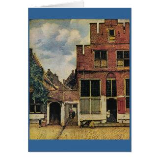 Johannes Vermeer's Street in Delft (circa 1660) Card
