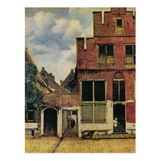 Johannes Vermeer's Street in Delft (circa 1660) Postcard
