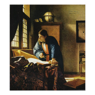 Johannes Vermeer's The Geographer (circa 1669) Poster