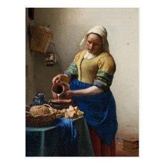 Johannes Vermeer's The Milkmaid Postcard