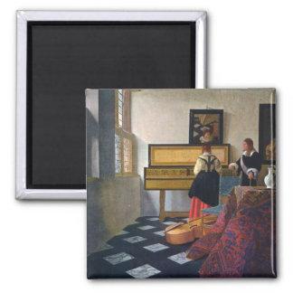 Johannes Vermeer's The Music Lesson (circa1663) Magnet