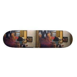 Johannes Vermeer's The Music Lesson (circa1663) Skateboard Decks