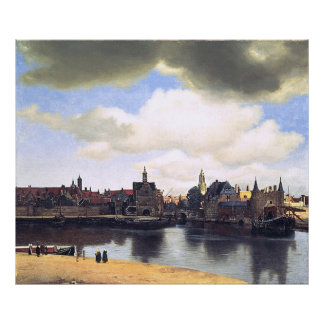 Johannes Vermeer's View of Delft (circa 1660) Poster