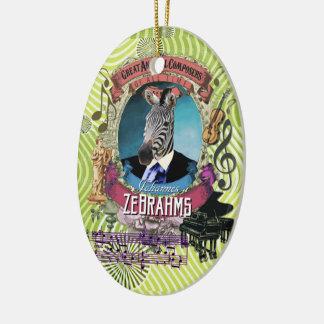 Johannes Zebrahms Zebra Animal Composer Brahms Ceramic Ornament