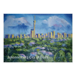 Johannesburg City of Trees Poster
