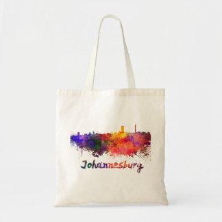 Johannesburg skyline in watercolor