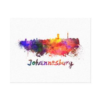 Johannesburg skyline in watercolor canvas print