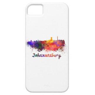 Johannesburg skyline in watercolor iPhone 5 cases
