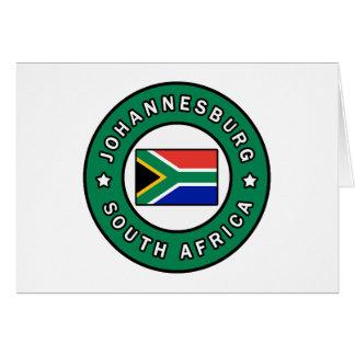 Johannesburg South Africa Card