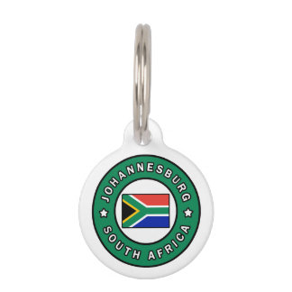 Johannesburg South Africa Pet Name Tag