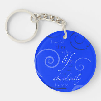 John 10:10 - Choose your own color! Customizable Keychain