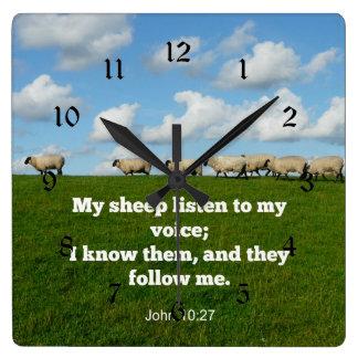 John 10:27 My sheep Clock