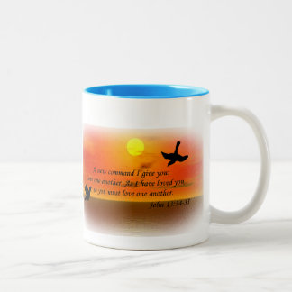 John 13:34 love one another mug