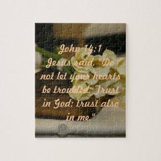 John 14:1 bible verse puzzle