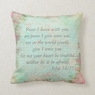 John 14:27   Bible Verse Custom Christian Gift Throw Pillow