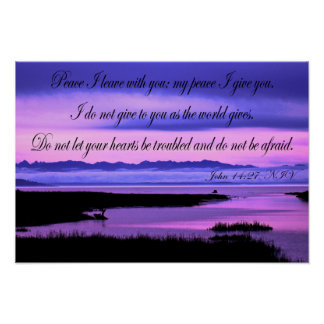 john 14:27 olympic mountains over n puget sound poster