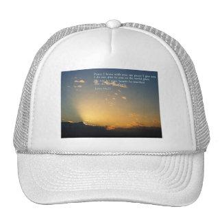 John 14:27  Sunrise Trucker Hat