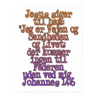 John 14:6 Danish Postcard