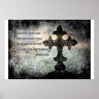 John 15:13 Scripture Poster