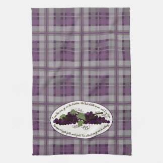 John 15:5 Bible Verse Grapes Kitchen Towel