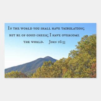 John 16:33 In the world ye shall have tribulation. Sticker