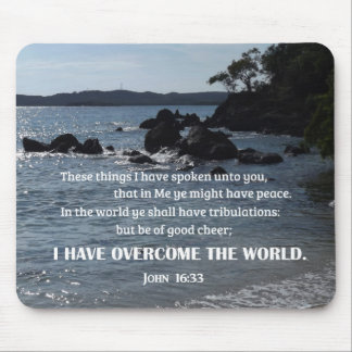 John 16:33 These things I have spoken unto you Mouse Pad