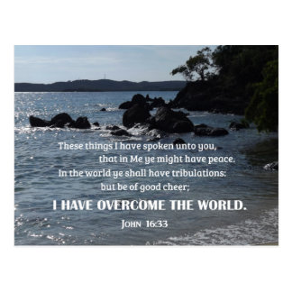 John 16:33 These things I have spoken unto you Postcard