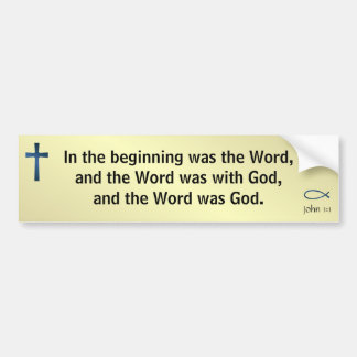 John 1:1 bumper sticker