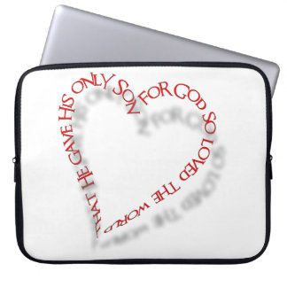 "John 3:16 15"" Laptop Case"