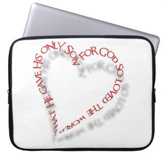 """John 3:16 15"""" Laptop Case Computer Sleeves"""