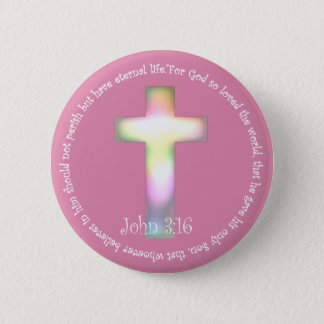 John 3:16 2 inch round button