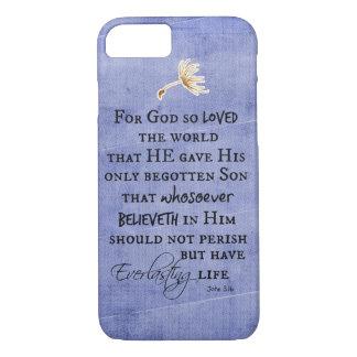 John 3.16 Bible Verse iPhone 7 Case