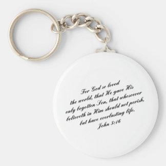 John 3:16 Bible Verse (KJV) Keychain