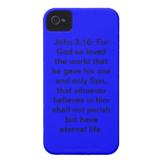John 3:16 Blue Case-Mate iPhone 4/4S Case