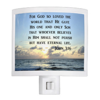 JOHN 3:16 BLUE SKIES SCRIPTURE PHOTO NIGHT LITES