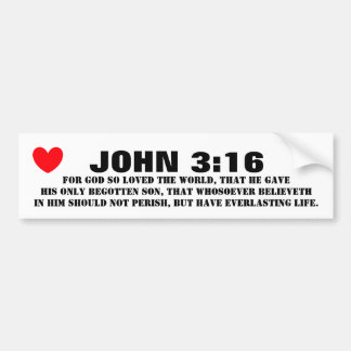 JOHN 3 16 BUMPER STICKER