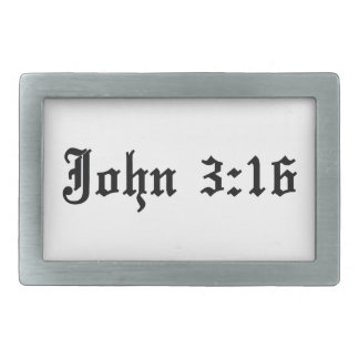john 3:16 christian bible verse rectangular belt buckles