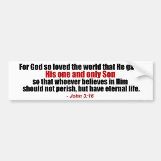 John 3:16 Christian Bumper Sticker