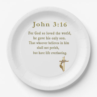 John 3:16 christian gifts paper plate
