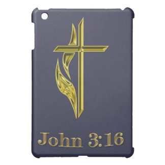 John 3:16 Christian Gold Cross gifts Cover For The iPad Mini
