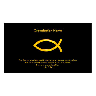 John 3:16 | Christian Pack Of Standard Business Cards