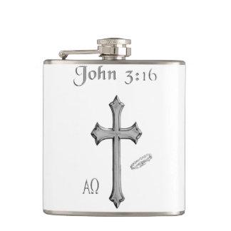 John 3:16 clothing flask