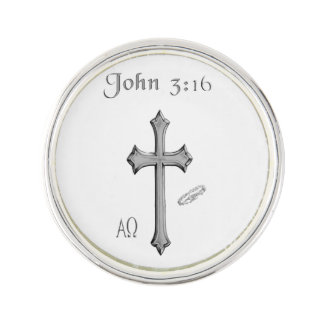 John 3:16 clothing lapel pin