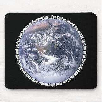John 3:16 Earth Christian Mousepad