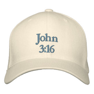 John 3:16 embroidered hats