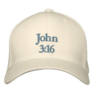 John 3:16 Embroidered Hat