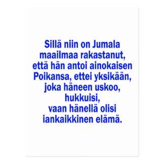 John 3:16 Finnish Postcard