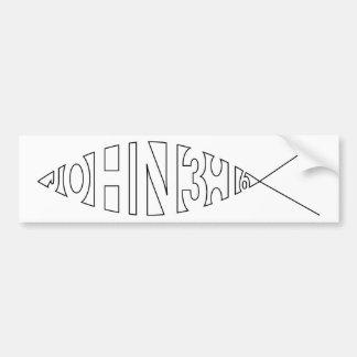 John 3:16 Fish Bumper Sticker