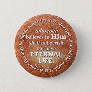 John 3:16 For God So Loved The World Bible Verse 2 Inch Round Button
