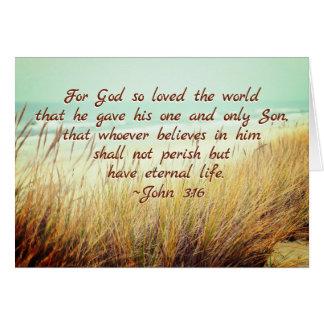 John 3:16 For God so loved the world, Bible Verse Card